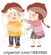 Kids Girl Measure Boy Length Illustration