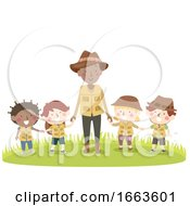 Kids Safari Tour Guide Illustration