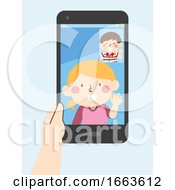 Kids Video Call Phone Illustration