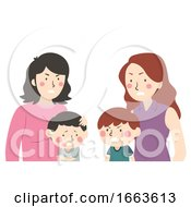 Poster, Art Print Of Kid Boy Kids Fight Mom Illustration