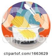 Hand Kitchen Verb Boil Illustration