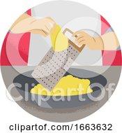 Hand Kitchen Verb Grate Illustration
