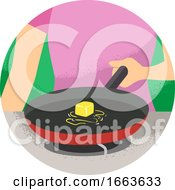 Poster, Art Print Of Hand Kitchen Verb Melt Illustration
