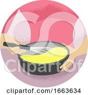 Hand Kitchen Verb Mix Beat Illustration