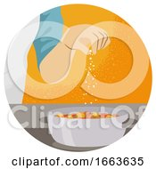 Hand Kitchen Pinch Illustration