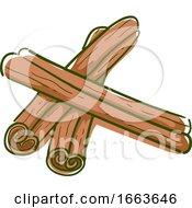 Cinnamon Sticks Superfood Illustration