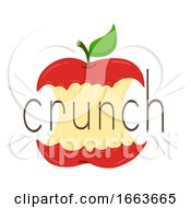 Apple Bite Onomatopoeia Sound Crunch Illustration