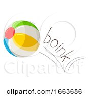 Ball Onomatopoeia Sound Boink Illustration