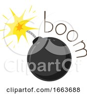 Bomb Onomatopoeia Sound Boom Illustration