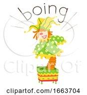 Toy Box Clown Onomatopoeia Sound Boing