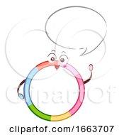 Mascot Hula Hoop Speech Bubble Illustration