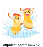 Mascot Boots Puddle Play Illustration