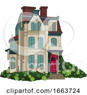 Poster, Art Print Of Three Story House