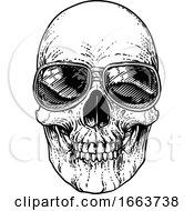 Poster, Art Print Of Skull Cool Sunglasses Skeleton In Shades