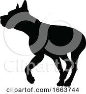 08/22/2019 - Dog Silhouette Pet Animal