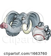 Elephant Baseball Ball Sports Animal Mascot