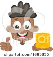 Poster, Art Print Of Boy With Coins
