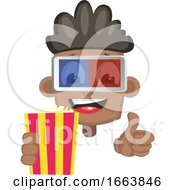 Poster, Art Print Of Boy With Popcorn And 3d Glasses