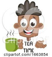 Poster, Art Print Of Boy With Hot Tea