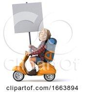 Man Solo Traveling Backpacker