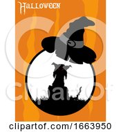Halloween Spooky Cat And Hat Border
