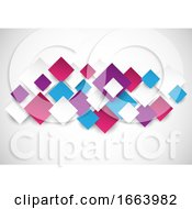 Abstract Background With 3d Style Squares Design