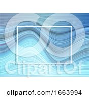 Warped Stripes Background With White Frame
