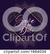 Poster, Art Print Of Decorative Save The Date Design