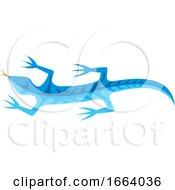 Blue Tribal Lizard