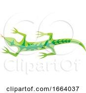 Green Tribal Lizard