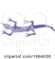 Purple Tribal Lizard
