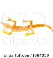 Orange Tribal Lizard