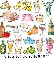 Poster, Art Print Of Food Icons