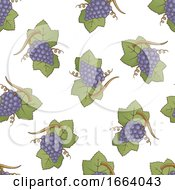 Seamless Purple Grapes Pattern by Any Vector