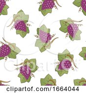 Seamless Red Grapes Pattern
