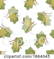 Seamless Green Grapes Pattern