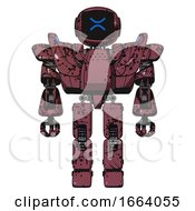 Android Containing Digital Display Head And Wince Symbol Expression And Heavy Upper Chest And Heavy Mech Chest And Battle Mech Chest And Prototype Exoplate Legs Muavewood Halftone Grunge Front View