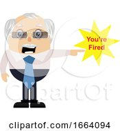 Old Business Man Firing People