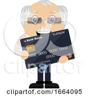 Old Business Man With Credit Card