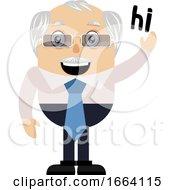 Old Business Man Saying Hi