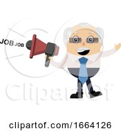 Old Business Man With Megaphone