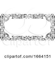 08/27/2019 - Filigree Heraldry Leaf Pattern Floral Border Frame