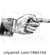08/27/2019 - Hand Pointing Finger Direction In Business Suit
