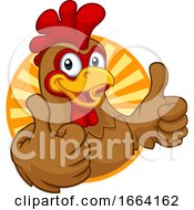 Chicken Cartoon Rooster Cockerel Character