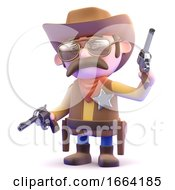 3d Cowboy Shoots Up The Town