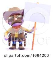 3d Cowboy Placard
