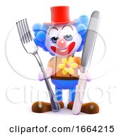 3d Clown Cutlery