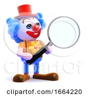 3d Clown Magnifies