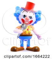 3d Clown On The Mic