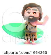 3d Caveman Goes Surfing